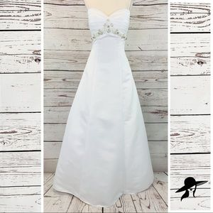 Mary's Bridal beaded wedding gown corset white